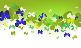 Fresh green wave with butterflies Stock Images