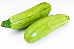 Fresh Green Zucchini on White Background Royalty Free Stock Image