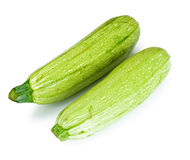 Fresh Green Zucchini on White Background Royalty Free Stock Photography