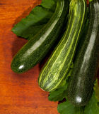 Fresh green zucchini Royalty Free Stock Images