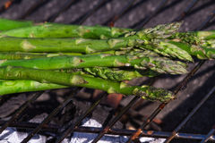 Fresh grilled asparagus Stock Photo