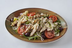 Fresh grilled chicken Salad Stock Photo