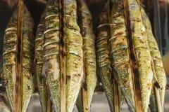 Fresh grilled fish at kep market cambodia Stock Photography