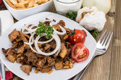 Fresh grilled Kebab meat Stock Photos