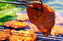 Fresh grilled meat. Royalty Free Stock Photos