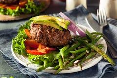 Fresh Grilled Paleo Hamburger Stock Image