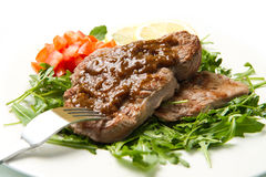 Fresh grilled red meat Stock Photos