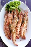 Fresh grilled shrimps Royalty Free Stock Image