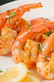 Fresh grilled shrimps Royalty Free Stock Images