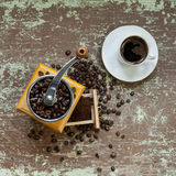 Fresh grinded coffee Stock Photo
