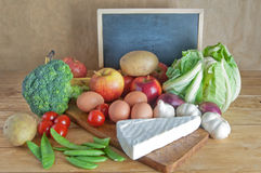 Fresh groceries fruits and vegetables Royalty Free Stock Photography