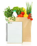 Fresh groceries. In a paper bag Royalty Free Stock Image
