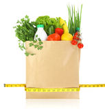Fresh groceries in a paper bag Stock Image
