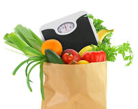 Fresh groceries in a paper bag Stock Photography
