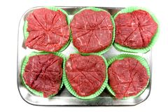 Fresh Ground Beef Patties Stock Photo