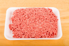 Fresh Ground Beef on Tray Stock Image