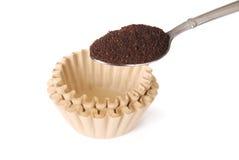Fresh ground coffee Stock Image