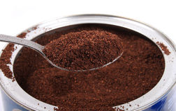 Fresh ground coffee in can Royalty Free Stock Image
