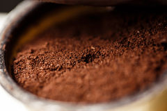 Fresh ground coffee Stock Photo