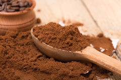 Fresh ground coffee Stock Images