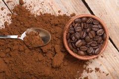 Fresh ground coffee Royalty Free Stock Photos