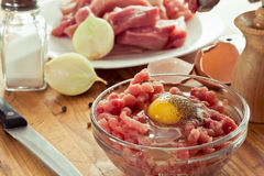 Fresh ground meat cooked Royalty Free Stock Photo