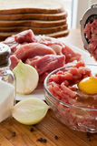 Fresh ground meat cooked Royalty Free Stock Images