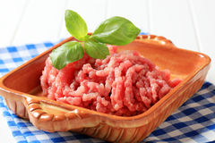 Fresh ground meat Stock Photo