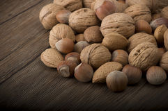 Fresh group of nuts Stock Photo