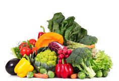 Fresh group of vegetables on white background. A fresh group of vegetables on white background Stock Photography