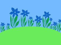 Fresh growth. Plants and flowers background Vector Illustration