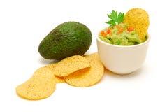 fresh guacamole and  avocado Stock Photos