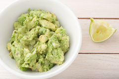 Fresh guacamole - chopped avocado with onion Stock Images