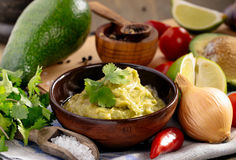 Fresh guacamole sauce Stock Photo