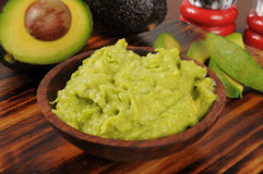 Fresh guacamole Stock Images