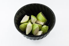 Fresh of Guava fruit. In cup Stock Photography