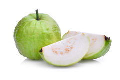 Fresh guava fruit with slice solated on white Stock Image
