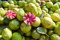 Fresh guava fruits in street market Delhi, India Stock Image