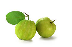 Fresh guava green fruit isolate on white background Royalty Free Stock Photo