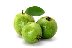 Fresh Guava isolated on white Royalty Free Stock Photos