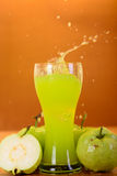 Fresh guava juice and split Royalty Free Stock Image