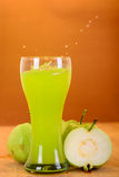 Fresh guava juice and split Royalty Free Stock Images
