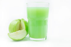Fresh guavas and guava juice Royalty Free Stock Images