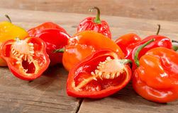 Fresh habanero peppers Stock Photo