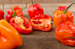 Fresh habanero peppers Royalty Free Stock Images