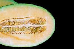Fresh half cantaloupe. Royalty Free Stock Image