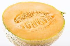 Fresh half cantaloupe melon Stock Photography