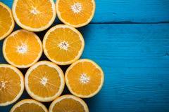Fresh half cut oranges Stock Photography