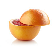Fresh half grapefruit Stock Photography