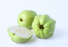 Fresh half of Guava fruit over white background Stock Image